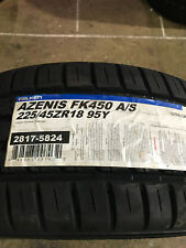 2 New 225 45 18 Falken Azenis FK450 A/S Tires