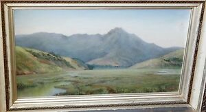 "1899 California Gouache Painting ""Mount Tamalpais, Marin"" by unidentified (Leh)"