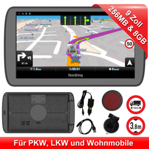 Mediatek 9 Pouces GPS Navi pour Voiture Camion Appareil de Navigation Eu Carte