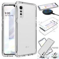 For LG Velvet 5G Phone Case Hybrid Armor Shockproof Bumper Frame Rugged Cover