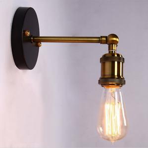 E27 Retro Loft Coppor Edison Hanging Industrial Rustic Wall Sconce Light Fixture