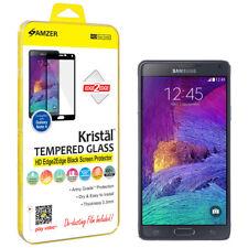 AMZER Tempered Glass HD Edge2Edge Black Screen Guard For Samsung GALAXY Note 4