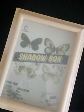 5x7 Natural Wood Shadow Box Customizable with Hardware