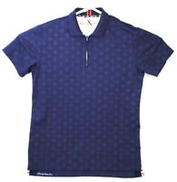 Robert Graham Tailored Fit Polo Shirt Zip Men's Size Large L