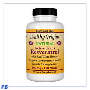 Healthy Origins - Resveratrol, (Trans-Resveratrol), 300mg, 2 Sizes