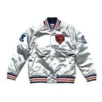 Mitchell & Ness Silver NFL Chicago Bears Championship Satin Jacket