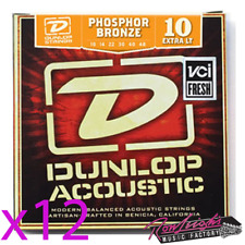 Jim DUNLOP 10/48 Phospher Bronze Acoustic Guitar Strings - Extra Light