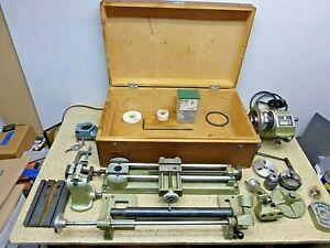 Unimat SL Metal Lathe, Case, Accessories- Large Set- Watch,Jewelry,Clock,Gun