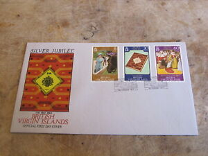 1977 First Day Cover - British Virgin Islands - Silver Jubilee - Royal interest