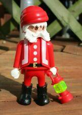 Vintage 1986 Playmobil Christmas Santa Claus Figure with Lantern - Geobra