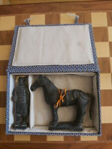 Chinese Terracotta Army Boxed Souvenir from China Warrior & Horse Figures 15cm