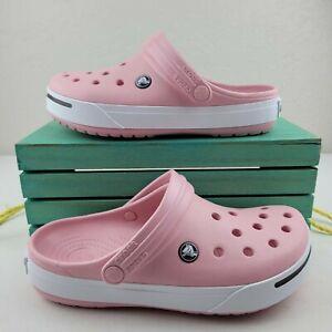 Crocs Pink Black White Clogs Unisex Crocband II 11989-617