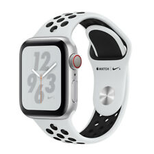 Apple Watch Series 4 Nike+ 44 mm Silver Aluminum Case with Pure Platinum/Black Nike Sport Band (GPS + Cellular) - (MTXC2LL/A)