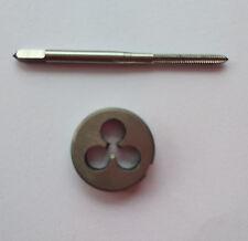 1pc HSS M5 X 0.8mm Plug Left Tap and 1pc M5 X 0.8mm Left Die Threading Tool