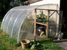 Greenhouse Film 6mX4m G160 ReinforcedHDPE HeavyDuty UV Stabilised Clear 80%Trans