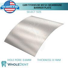 GBR Titanium Mesh Membrane Plate Bone Regeneration Tack Barrier, Dental Implant