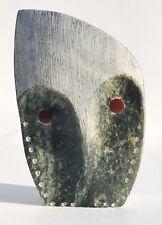 Roy Henry IROQUOIS Ononadaga Native Indian Hand Carved Stone Soapstone OWL Bird