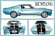 "Fabulous Mustangs Sports Car Poster 36"" x 24"""