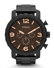 Fossil Watch * JR1356 Nate Chronograph Black Stainless Steel for Men COD PayPal