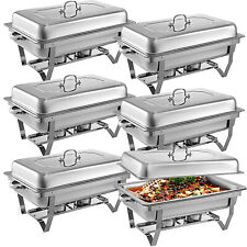 6 Pack 8QT Stainless Steel Chafer Chafing Dish Sets Catering Fast Shipping WINIT