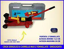 Crick sollevatore auto idraulico a carrello con ruote per riparazione gomme kit