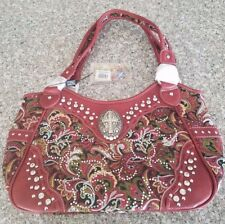Montana West Purse New W/Tags Red Paisley CBK-8110 RED