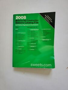 2008 Sweets Catalog Catalogue McGraw-Hill Volume 7 Architectural