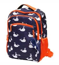 New School Kids Unisex BackPack with A Whale Plush Dangle Toy Laptop Pocket Bag