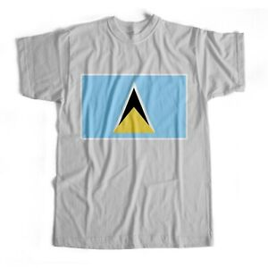 Saint Lucia   National Flag   Iron On T-Shirt Transfer Print