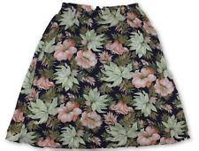 VTG Alley Cat Womens Tropical Floral Cotton Midi Skirt Sz Large