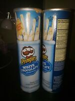*RARE* 2015 Pringles White Chocolate Flavor Cans 2pack *LIMITED SPECIAL EDITION*