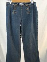 Vintage Bill Blass Womens Jeans Cotton Sailor Lace Up Back Straight Leg Size 4P