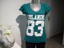 top femme de marque MÎM taille 38 40 M haut t tee shirt maillot vert ado woman