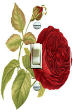 Vintage Red Rose Illustration Single Switch Plate *Free Shipping*