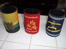 "3 Assorted Insulated ""Hawaii"" or ""Kauai"" Can & Bottle Koolie Holder Set #1"