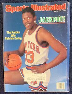 5.20.1985 PATRICK EWING Sports Illustrated NY KNICKS - HANA MANDLIKOVA - Tennis