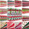 Christmas Fabric Bundles - Fat Quarters - Red Green - Craft Polycotton Material