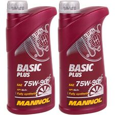 2x 1 Liter Mannol Basic Plus 75W-90 Getriebeöl API GL4+ VW 501.50 MIL-L 2105
