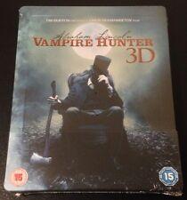 ABRAHAM LINCOLN VAMPIRE HUNTER 3D Blu-Ray SteelBook UK Exclusive Tim Burton Rare