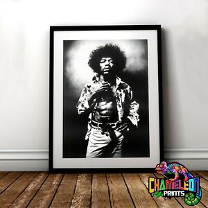 Jimi Hendrix Poster Print In A3 A4 Jimi Hendrix Vintage Posters