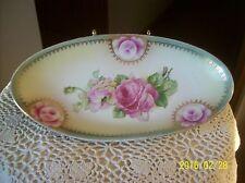 Germany Porcelain China Vintage Rose Floral Pattern Celery Serving Dish