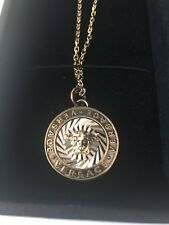 46643ff748 New In Box Authentic VERSACE Gold Plated Metal Medusa Necklace Pendant Italy