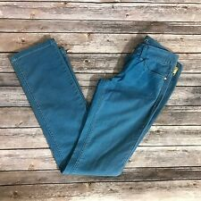 Kitson LA Womens Pants Size 26 Blue Colored Jeans Denim Straight Leg