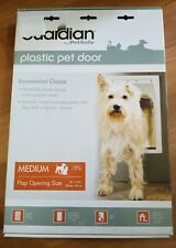 New Guardian by PetSafe White Plastic Pet Door Medium Pets to 40 lbs. Dog Cat