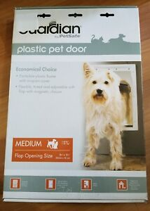New Guardian by PetSafe White Plastic Pet Door Medium Pets to 40 lbs. Dog Cat
