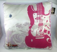 Disney Hannah Montana Decorative Pink Plush Guitar Velvet Flower pillow 14""