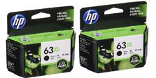 HP 63XL GENUINE INK Cartridge BLACK F6U64AA 2.5X 2Packs Printer Hewlett-Packard