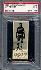 1925 V31 Dominion Chocolate #68  JP Aggatt   Hockey   PSA 5 !