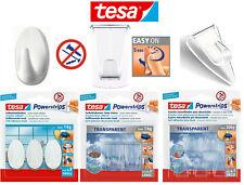 tesa Powerstrips selbstklebende Dekohaken Haken transparent weiß Deko bis 1kg