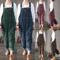ZANZEA Femme Combinaison Pantalon Salopette Style Décontracté Loisir Casual Plus